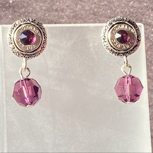 380 Earrings with Purple Swarovski Crystals
